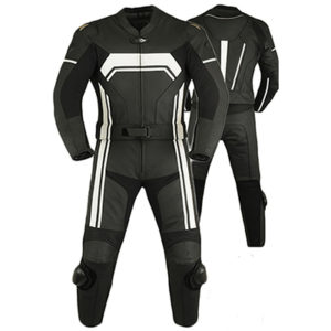Leather Biker Suit Mens