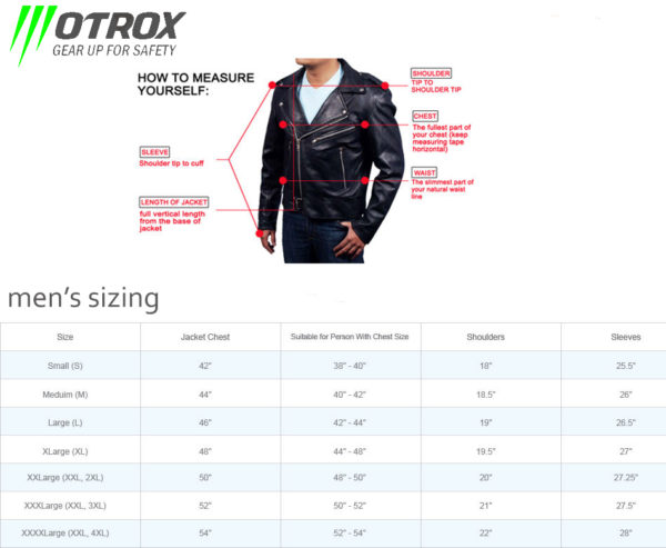 fashion jacket size guide