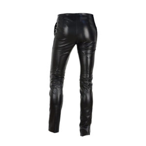 women fashion skinny leather trouser
